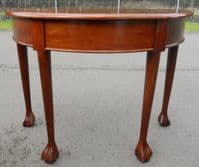 Mahogany D End Console Side Table
